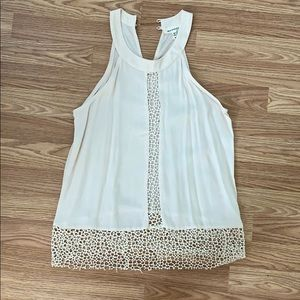Monteau decorative cream top! Only worn once!